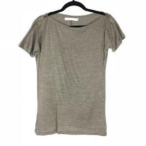 MADEWELL Hi-Line zipper adjustable shoulder tee